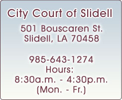 Welcome to City Court of Slidell
