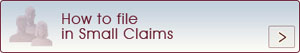 How to file Small Claims